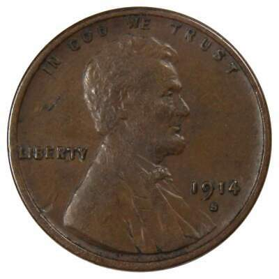1914 S Lincoln Wheat Cent Penny XF,EF-Extra Fine