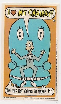 Pee-Wee's Playhouse Card Pee Wee Herman Topps 1988 Finger Dance! Chairy Conky