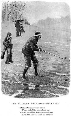 Golf in December A B FROST ILLUSTRATION Golfer's Calendar PLAYING IN THE RAIN