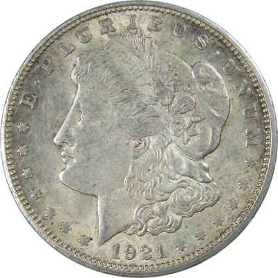 1921 D Morgan Silver Dollar AU-About Uncirculated