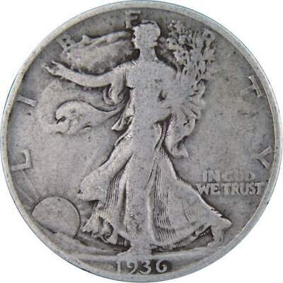 1936 S Liberty Walking Silver Half Dollar Average Circulated