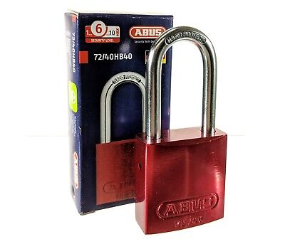 ABUS 72/40HB40 Red Padlock Alumium Lockout Jobsite Tools Pelican storage box