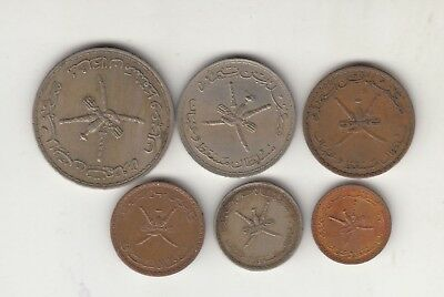 Muscat And Oman Lot Of 6 Coins.
