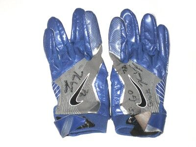 e6d09acc1 Kerry Wynn New York Giants 2018 Practice Worn   Signed Blue   Gray Nike  Gloves