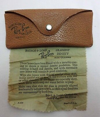 Vintage Bausch & Lomb Rayban Sunglasses Case & Cloth