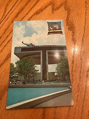 Port of New York Heliport and Exhibit Building Postcard NYC World's Fair 1964-65