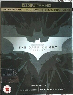 The Dark Knight Trilogy 4K Ultra HD + Blu-ray + Digital, Region Free, mint