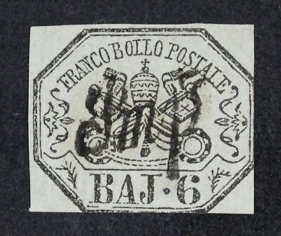 CKStamps: Italy Roman States Stamps Collection Scott#7 Used