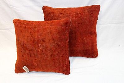 Pair of  handmade Antique Pillows made out out of Oushak  Aubusson Antique Rugs