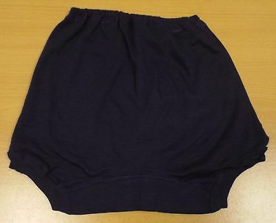 VINTAGE 1960's UNWORN GIRLS NAVY PATACAKE SCHOOL GYM KNICKERS PANTIES SIZE 30""