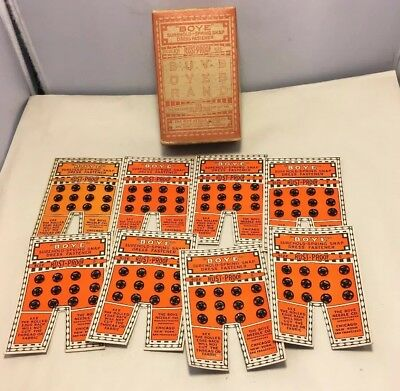 Antique Lot Of 8 Cards Of Boye Dress Fasteners In Original Advertising Box