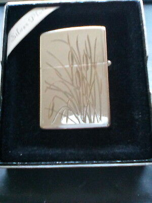"Zippo/ A Mega Rare Vintage  Silver Plate And Gold Plated "" Reeds "" From 1992"