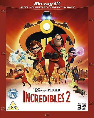 Incredibles 2 [3D + 2D Blu-ray, 2018] - SLEEVE INCLUDED!