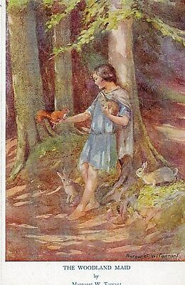 The Woodland Maid by Margaret W Tarrant:Unposted :SEE SCANS