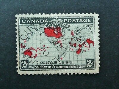CANADA 1898 XMAS 2c MAP STAMP WITH LONDON SOUTH CANCEL - FINE USED - SEE!