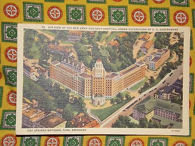 Vintage Postcard Air View Of The New Army & Navy Hospital, Hot Springs, Ark.
