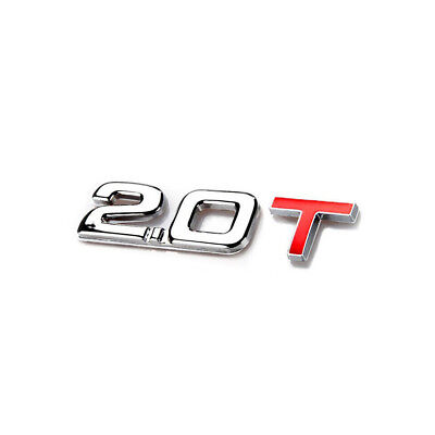 Car Stickers Displacement Metal Trunk Logo Exterior Accessories Rear Tail 3D