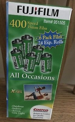 UNOPENED Fuji Superia X-TRA 400 6 x 24 6 Pack All Occasions Film Expired 03 2010