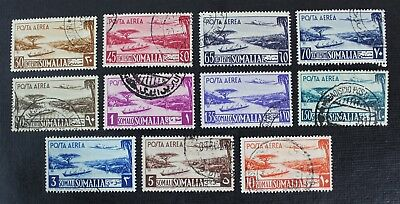 CKStamps: Italy Somalia Stamps Collection Scott#C17-C27 Used