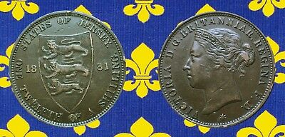 JERSEY:- Queen Victoria 1/12 shilling dated 1881 circulation coin. AP7320