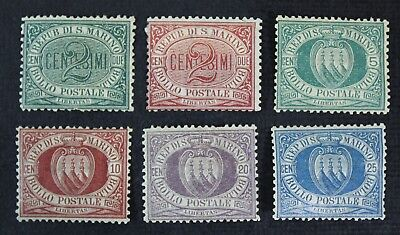 CKStamps: Italy San Marino Stamps Collection Scott#1/14 Mint H OG
