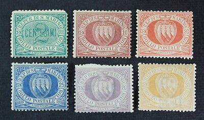CKStamps: Italy San Marino Stamps Collection Scott#1/16 Mint H OG