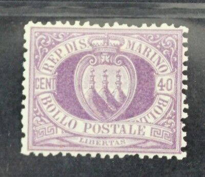 CKStamps: Italy San Marino Stamps Collection Scott#17 Mint H OG