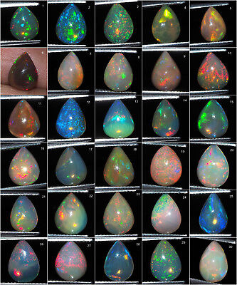 100% Natural Opal Ethiopia Finest Quality Flashy Untreated Gems Collection