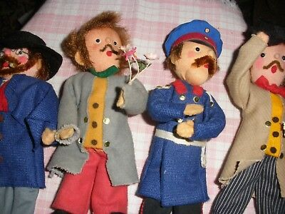 Hand Made Crafted Vintage Folk Art Rag Cloth Character Dolls