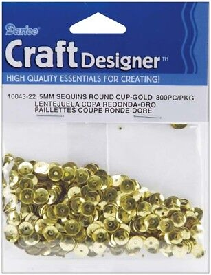 Gold - Cupped Sequins 5mm 800/Pkg