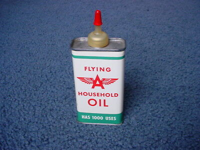 Vintage Flying A Household Handy Oiler Oil Tin Can Tidewater Oil Co. Very Nice !