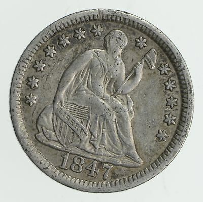 5c ***1/2 Dime** - 1847 Seated Liberty Half Dime - Early American Type Coin *876
