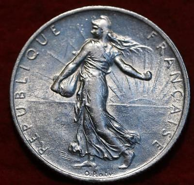 1914 France 2 Francs Silver Foreign Coin
