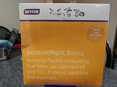 New Sealed MYOB AccountRight Basics Software Accounting GST Invoices Reporting