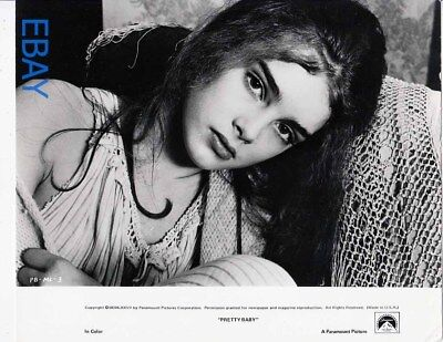 Brooke Shields a face of haunting beauty VINTAGE Photo Pretty Baby