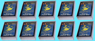 10 PRO MOLD 50 COUNT Trading CARD SNAP STORAGE BOX Plastic PC50 Sports Clear