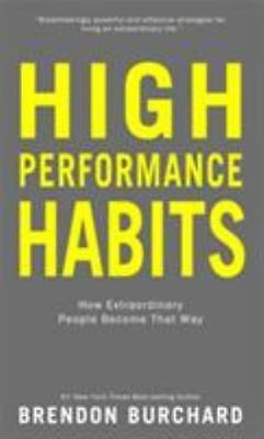 High Performance Habits by Brendon Burchard Hardcover Book NEW