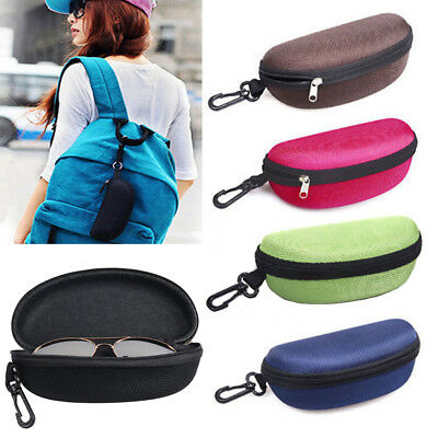 New Zipper EVA Eyeglasses Sunglasses Clamshell Hard Case Protector Box