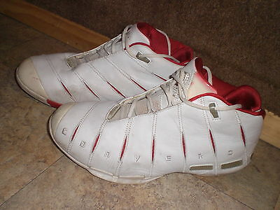 Dwyane Wade Converse Shoes 13 Red White 1st Signature Basketball Shoe Rare  Dunks 45d7a6651