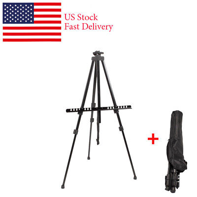 Artist Studio Art Craft Display Easel Metal Paint Board Stand Tripod Drawing+Bag