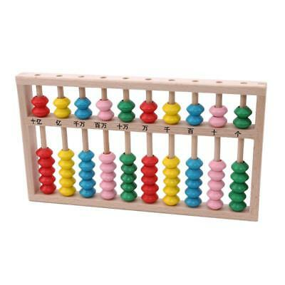 Wooden Children's Counting Bead Abacus Educational Frame Maths Toy for Kids LA