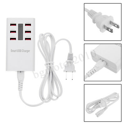 Multi Port USB Fast Charger 6-Port Adapter Wall AC Power Supply For Smart Phone