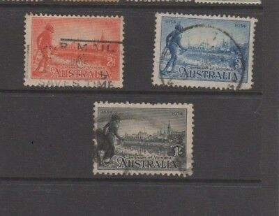 A very nice  Australian 1934 Aboriginal trio of issues