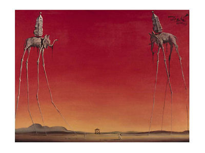 Les Elephants The Elephants Salvador Dali Art Print Poster 19.75x15.75