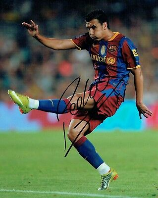 PEDRO Signed Autograph 10x8 Photo 2 AFTAL COA Barcelona LaLiga Spain Football