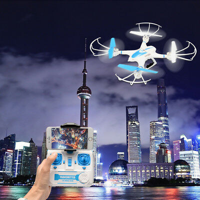 2.4GHz 4CH RC Quadcopter FPV RTF Headless Mode Camera Drone WiFi Real Time Video