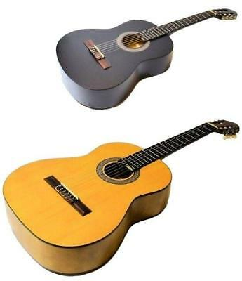 Student Full Size 4/4 Classical Guitar In Matt Natural or Matt Black CLEARANCE