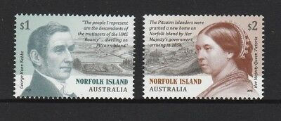 NORFOLK Island 2019 PITCAIRN SETTLEMENT design set of 2   MNH - History.