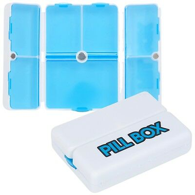 7 Day Pill Box Organiser Medication Tablet Holder Compact Dispenser Travelling