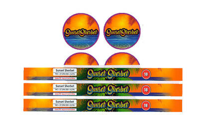 SUNSET SHERBET PRESSITIN LABELS (Cali/Tuna Tin Labels/Stickers 10 CAN PACK)